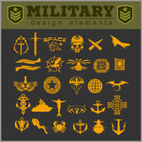 Special unit military patch vector illustration