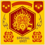 Special unit military patch - vector set Stock Photo