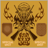Special unit military patch - vector set royalty free illustration