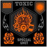 Special unit military patch - vector set Royalty Free Stock Photography