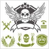 Special unit military patches Royalty Free Stock Photography