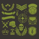 Special unit military patches Royalty Free Stock Images
