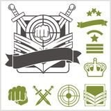Special unit military patches royalty free illustration