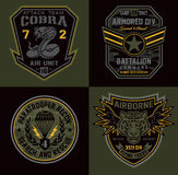 Special unit miltary badge patches Stock Photography
