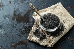 Special useful Kostroma black salt Russia Stock Image