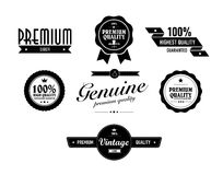 Special vintage sticker vith premium quality text. Vintage sticker vith premium quality text Stock Photos