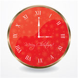 Special wall clock. With snowflakes Royalty Free Stock Photography