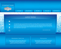 Special website design template Stock Images