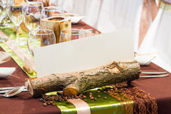 Special wedding table decorations Royalty Free Stock Photos