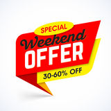 Special Weekend Offer sale banner Royalty Free Stock Photos