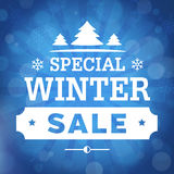 Special winter sale poster background Royalty Free Stock Photos
