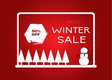 Special Winter Sale poster . stock illustration