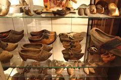 Special wooden clogs Stock Image
