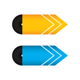 Special yellow and blue arrow design Royalty Free Stock Photo
