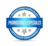 speciala befordringar i begrepp för spanjorskyddsremsatecken royaltyfri illustrationer