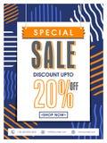 Speciala Sale affisch, baner eller reklambladdesign Royaltyfria Bilder