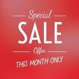 Speciala Sale som heading den enkla designen för baner eller affisch Sale Royaltyfri Bild