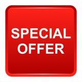 Speciale aanbieding rode vierkante knoop Stock Afbeeldingen