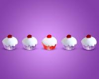 Speciale aantrekkelijke rode muffincake Stock Foto
