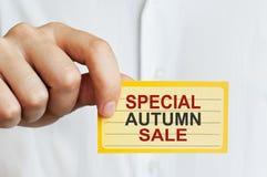 Speciale Autumn Sale Immagine Stock Libera da Diritti