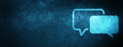 Speciale blauwe de bannerachtergrond van het huldeblijkenpictogram vector illustratie