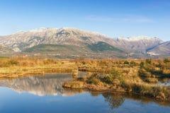 Speciale botanische en dierlijke reserve Solila montenegro Royalty-vrije Stock Foto