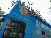Speciale Bus met het Embleem van YOG Royalty-vrije Stock Foto
