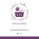 Speciale de Korting van de Bonus Grote Verkoop het Winkelen Banner met Exemplaarruimte stock illustratie