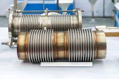 Speciale del tubo flessibile e della flangia di acciaio inossidabile per l'alto e sistema medio di pressione o di temperatura per fotografia stock
