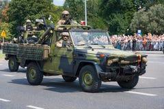 Speciale krachten GROM in Mercedes G Stock Fotografie