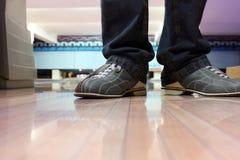 Speciale laarzen voor kegelen op voeten Royalty-vrije Stock Foto