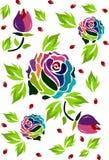 speciale multicolored rozen Stock Afbeelding