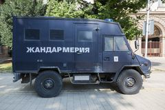 Speciale politiewagen Sofia, Bulgarije royalty-vrije stock foto