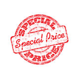 Speciale prijs rubberzegel Stock Afbeelding