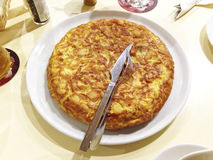 Speciale tapas Spaanse Omelet Stock Foto's