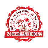 Speciale Zomeraanbieding - Dutch summer holiday advertising Royalty Free Stock Images