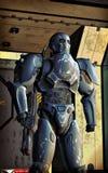 Specialfunktioner för Futuristic soldat Arkivbilder