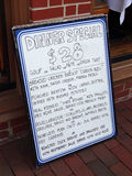 Speciali della cena del ristorante Fotografia Stock Libera da Diritti