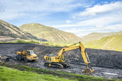 Specialised machines used to coal excavation Royalty Free Stock Photo