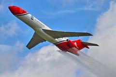 Specialist Boeing 727 för oljeutsläpprengöringar Arkivbilder