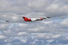 Specialist Boeing 727 för oljeutsläpprengöringar på airshow Royaltyfria Bilder