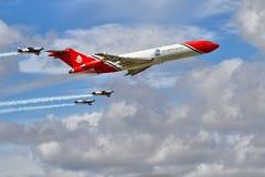 Specialist Boeing 727 för oljeutsläpprengöringar på airshow Arkivfoto