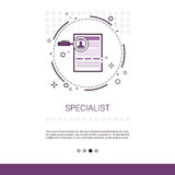 Specialist Candidate Vacancy Search Web Banner With Copy Space. Vector Illustration stock illustration