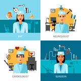 Specialist Doctors Concept Set Royalty Free Stock Photos