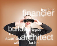 Specialist personnel looking for workers Stock Photos