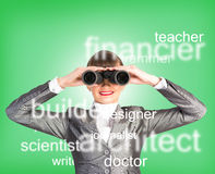 Specialist personnel looking for workers Royalty Free Stock Image
