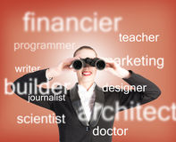Specialist personnel looking for workers. The concept of recruiting royalty free stock photos