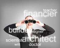 Specialist personnel looking for workers Stock Images