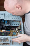 IT specialist repairing computer Royalty Free Stock Photography