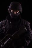 Specialist in uniform with machine gun Stock Image
